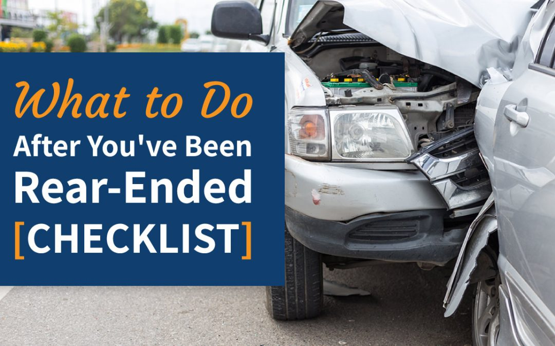 What to Do After You've Been Rear-Ended